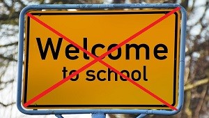 学校に来るな