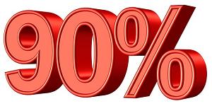 90パーセント