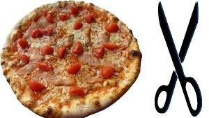 ピザとハサミ